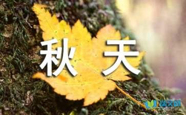 关于描写秋天的好句好段摘抄大全赏析