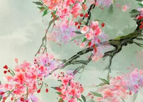 关于荷花与桃花的诗句大全
